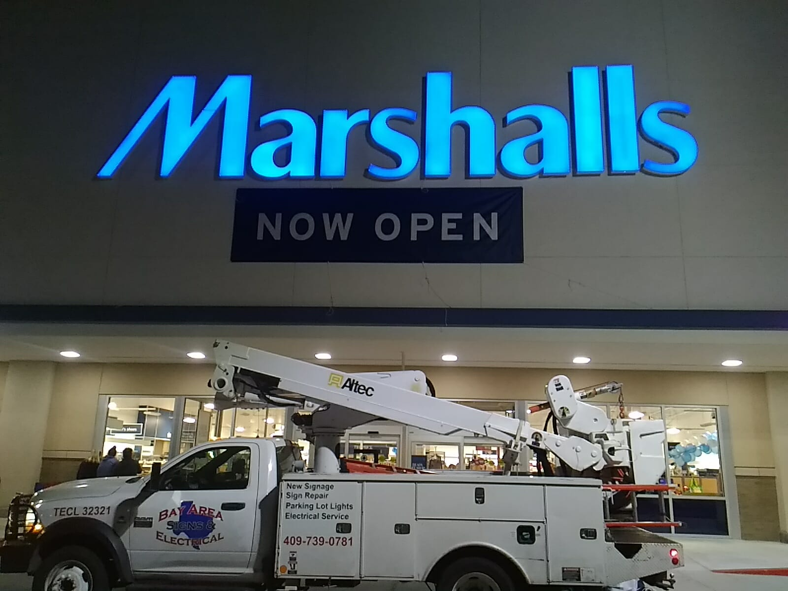 LED Sign Installation
