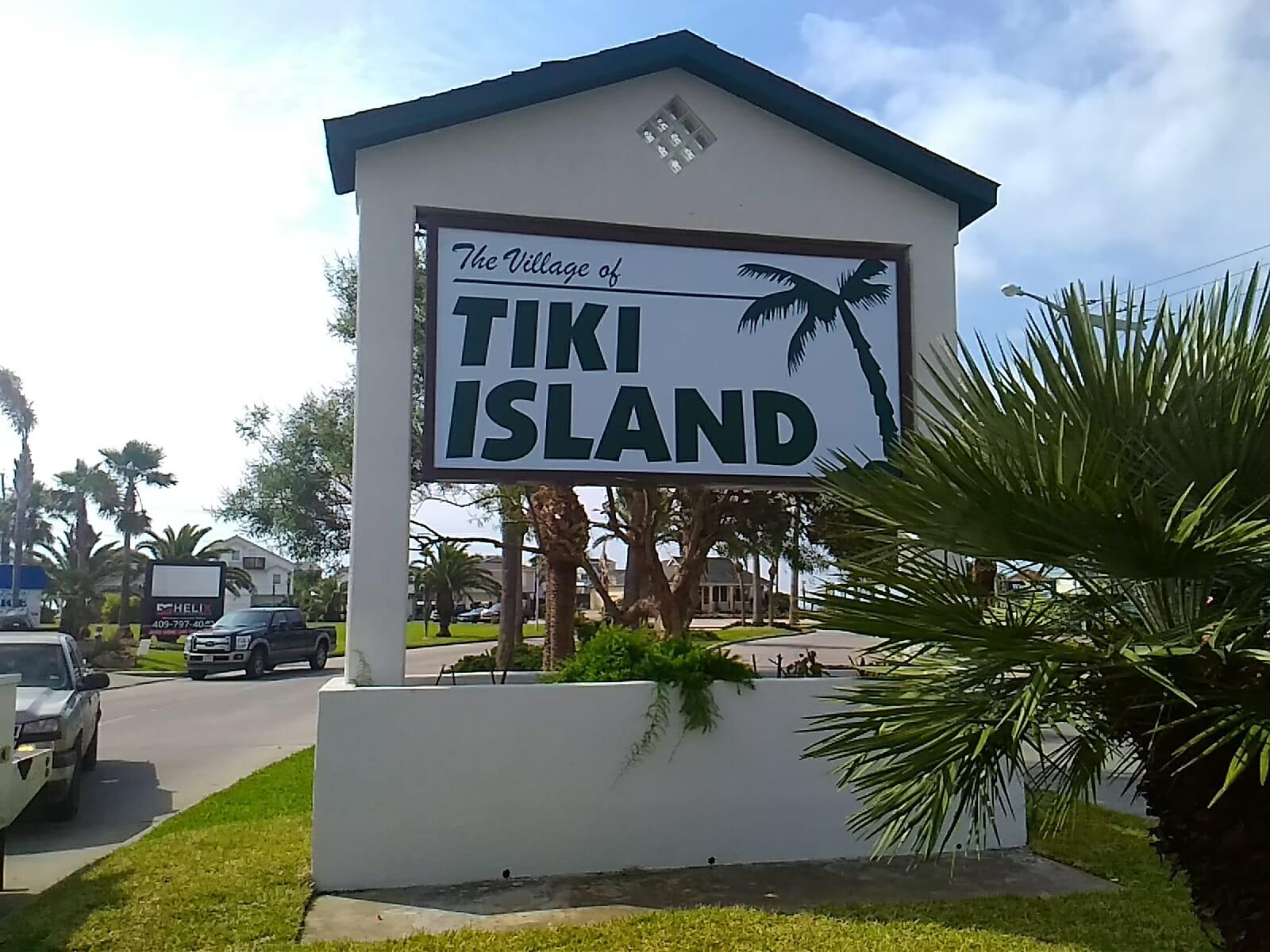 Tiki Island Sign